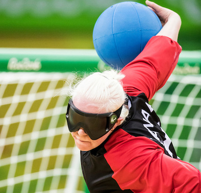 athlete throwing ball