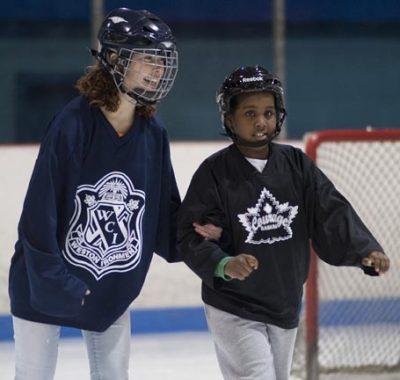 Two girls Skating